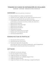 Documento PDF temario de curso de reparaci n de celulares altamirano