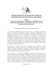 Documento PDF convocatoria foro upn 2018