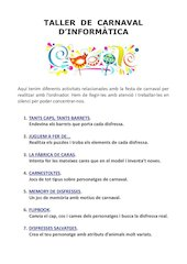 Documento PDF tallers carnaval