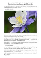Documento PDF las 10 flores m s hermosas del mundo