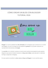 Documento PDF c mo crear un blog con blogger tutorial 2018