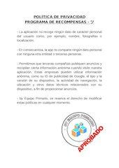 Documento PDF politica de privacidad