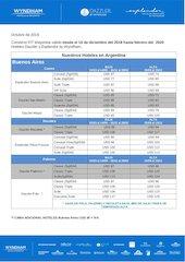 Documento PDF tarifario tour  travel  2019 2020