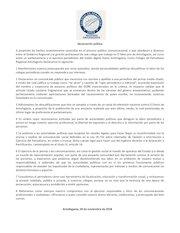 Documento PDF comunicado por presiones a periodistas