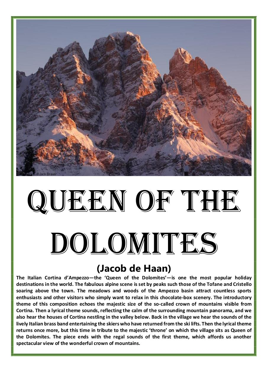 2 - Queen of the Dolomites - Jacob de Hann - Set of Clarinets.pdf - página 1/32