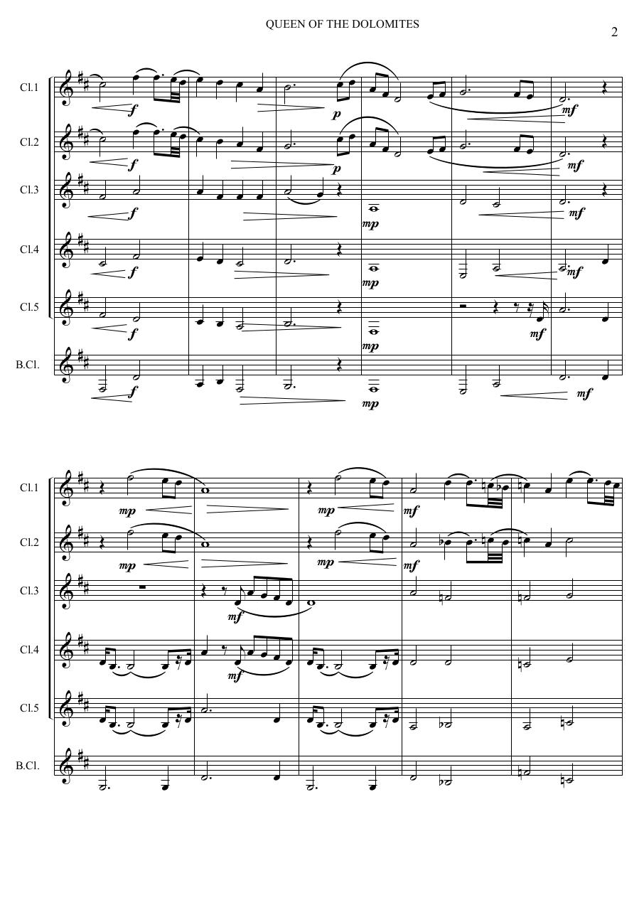 2 - Queen of the Dolomites - Jacob de Hann - Set of Clarinets.pdf - página 3/32