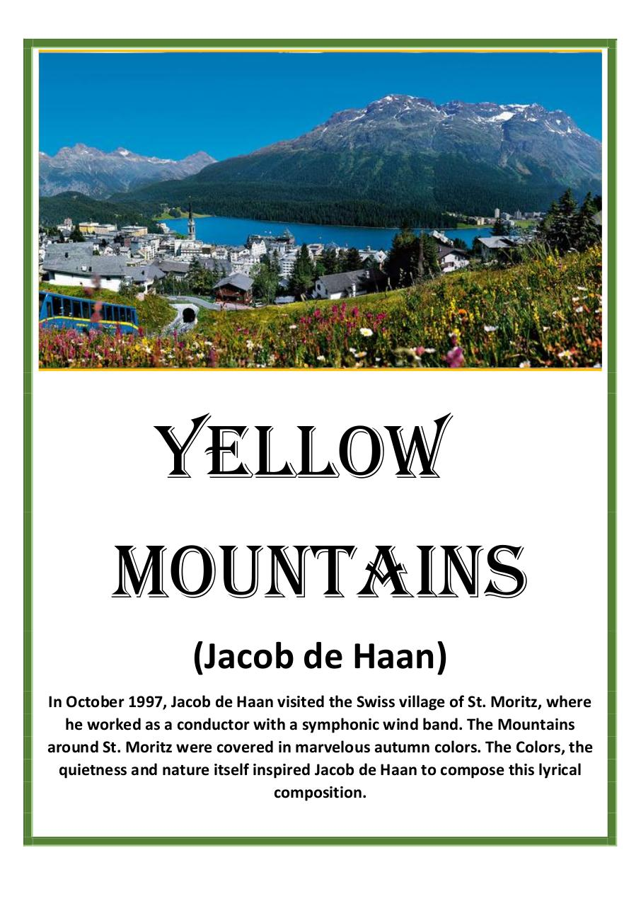 4 - Yellow Mountains - Jacob de Haan - Set of Clarinets.pdf - página 1/12