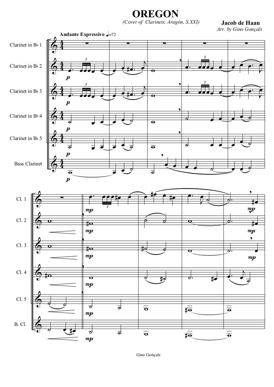 7 - Oregon - Jacob de Haan - Set of Clarinets.pdf - página 2/56