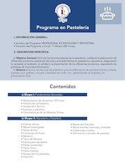 Documento PDF programa en pasteleria
