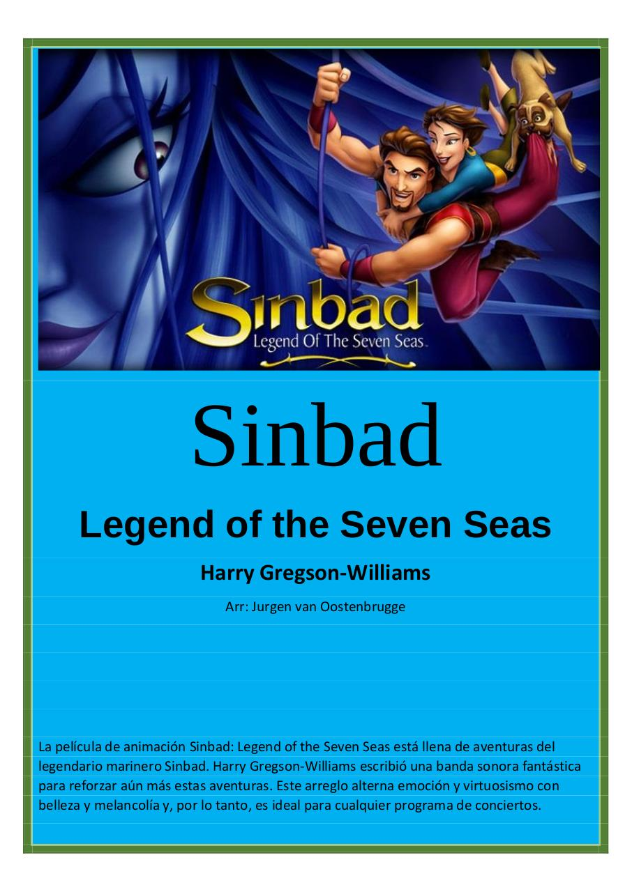 54 - Sinbad - Legend of the Seven Seas - Harry Gregson-Williams - Set of Clarinets.pdf - página 1/50