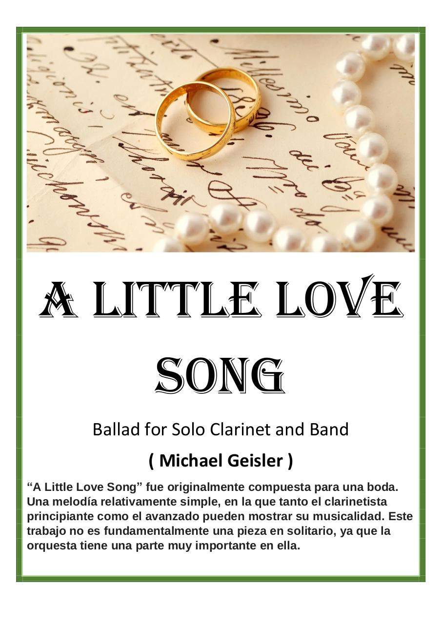 30 - A Little Love Song - Michael Geisler - Set of Clarinets.pdf - página 1/15