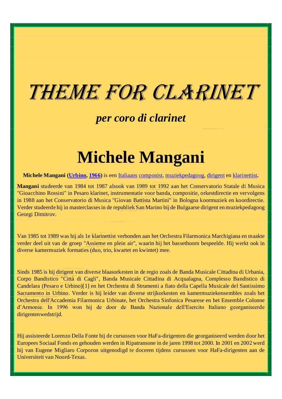 49 - Theme for Clarinet - Mangani - Set of Clarinets.pdf - página 1/15