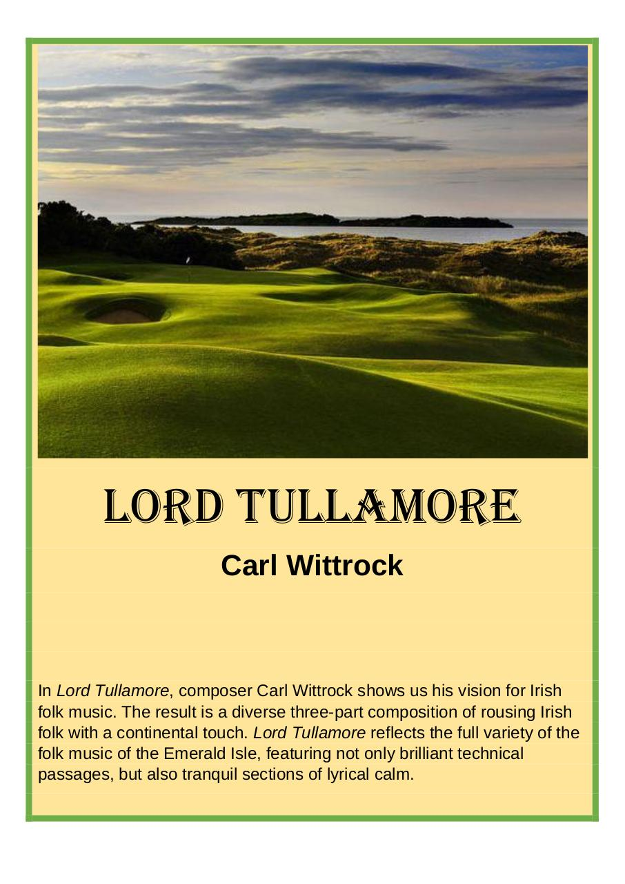 51 - Lord Tullamore - Carl Wittrock - Set of Clarinets.pdf - página 1/43