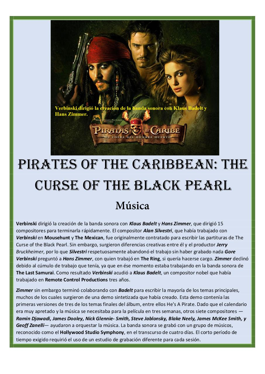 24 - Pirates of the Caribbean.-.The Curse of the Black Pearl - Klaus BADELT - Set of Clarinets.pdf - página 1/57