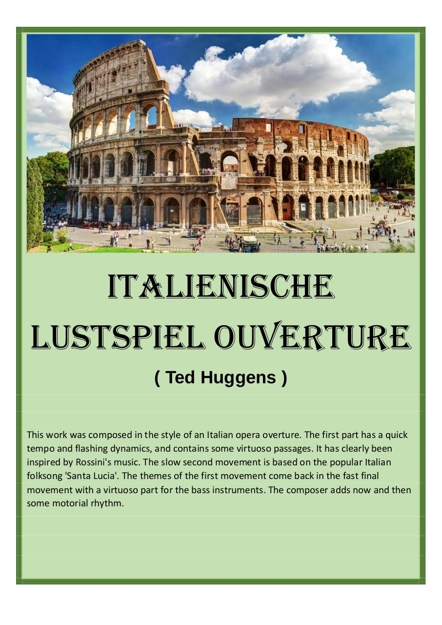 27 - Italienische Lustspiel Ouverture - Ted Huggens - Set of clarinets.pdf - página 1/43