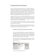 Documento PDF compartir ficheros en windows server