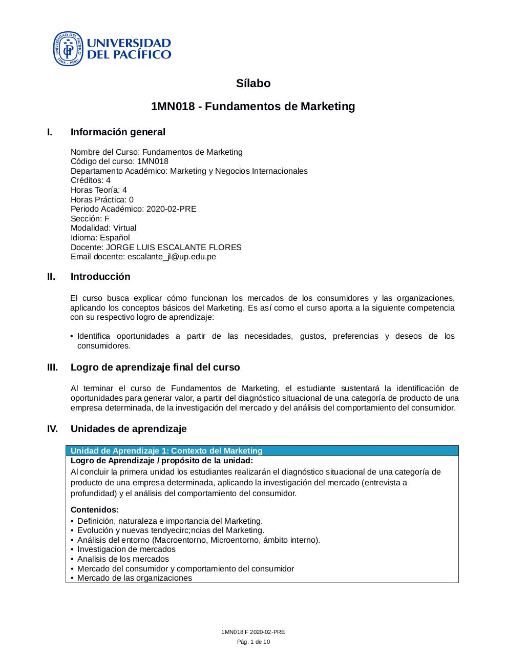 Silabo Funda de Marketing.pdf - página 1/10
